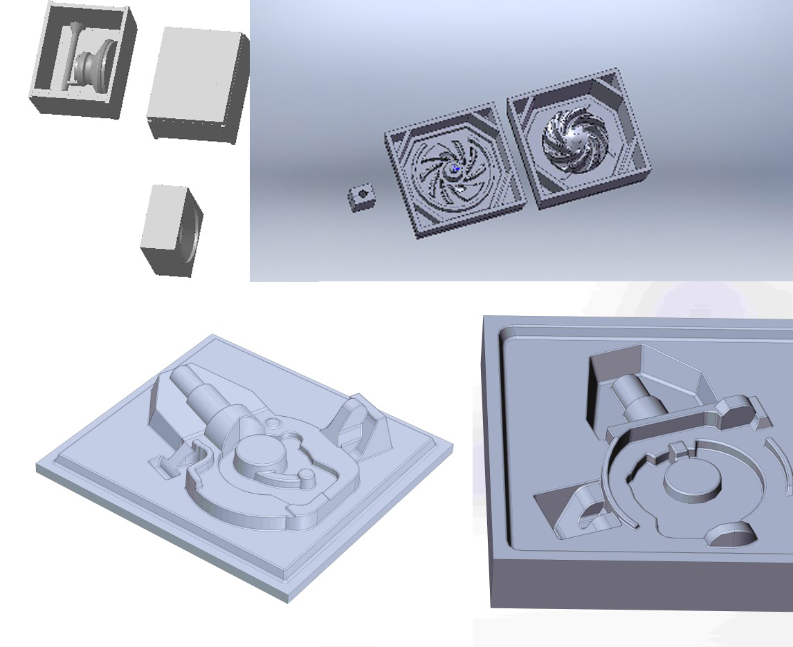 3D projection of casting molds