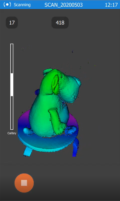 A 3D scan with Live3D feature